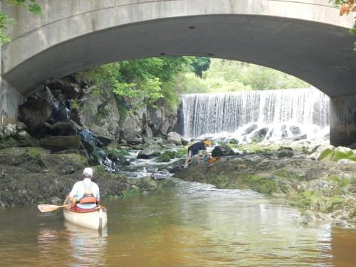 The first portage at Stroudwater River.